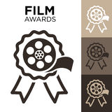 Film Award with Film Reel. And color variations Stock Image