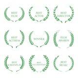 Film Awards, award wreaths on white background. Vector Royalty Free Stock Photos