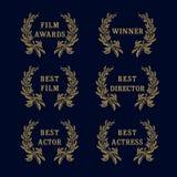 Film awards laurel logo Stock Photos