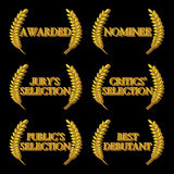 Film Awards Nominations 3D 2 Stock Photography