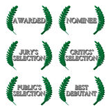 Film Awards Nominations 3D 1 Royalty Free Stock Image