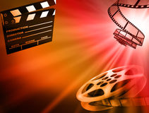 Film background. Reel of 35mm motion picture film Royalty Free Stock Image