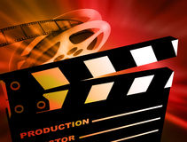 Film background. Reel of 35mm motion picture film Royalty Free Stock Photos