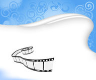 Film background. Blue background with film strip; clip-art Royalty Free Stock Image