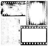 Film background. Vector set of grunge film samples Stock Images