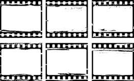 Film background. Vector set of grunge film frame samples Stock Photo