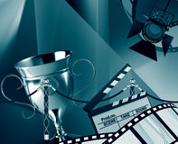 Film background. With the cup Royalty Free Stock Photography