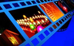 Film background. Digital illustraton of film background Royalty Free Stock Photo