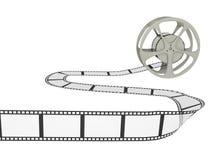 Film-Bandspule mit Streifen Stockfotos
