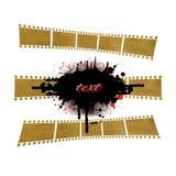 Film banner. Grunge film strip banner design element Royalty Free Stock Photo