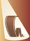 Film in beams of projector. Vector illustration Royalty Free Stock Photography