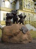 Film bears and an old villa. Stock Photos