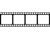 Film. Black film on a background Stock Photo