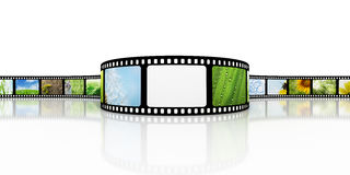 Film with blank spot for photo Royalty Free Stock Photos