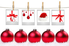 Film Blanks With Images of Christmas Themed Items Royalty Free Stock Photo