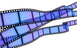 Film blue. Background Film blue (done in 3d Stock Images