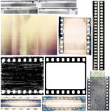 Film borders. Design elements set, film borders, textures Royalty Free Stock Photo