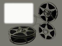 Film-broodje twee op mirrow en het witte scherm royalty-vrije illustratie