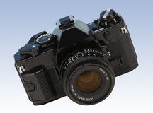 Film Camera. Traditional film camera isolated with clipping path stock image