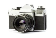 Film camera. Vintage 35mm SLR film camera Stock Image