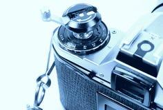 Film Camera 2. Film Camera in Cyan Royalty Free Stock Photo