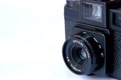 Film camera. Close up film camera focus on lens 1:8, f=60mm Stock Photos