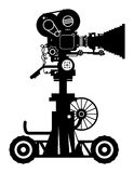 Film camera. Retro professional cinema film camera Royalty Free Stock Photo