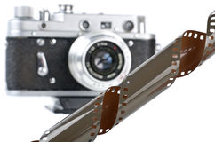 Film and camera Royalty Free Stock Photo