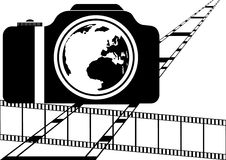 Film and camera Royalty Free Stock Photos
