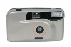 Film camera. The film camera on a white background Stock Photos