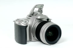 Film camera. The film camera on a white background Stock Images