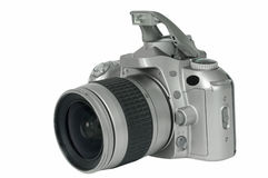 Film camera. The film camera on a white background Stock Photography