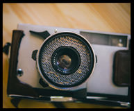Film camera in case Royalty Free Stock Photos