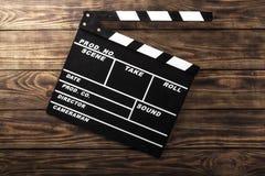 Film. Camera chalkboard white clap movie producer Stock Photos
