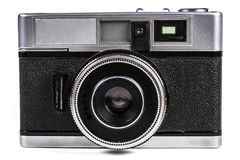 Film Camera Close-up. Old Film Camera Isolated on White Background Royalty Free Stock Photography