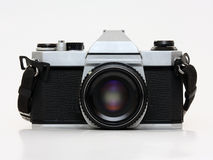 Film camera - front view Royalty Free Stock Images