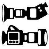 Film camera icons isolated on white Stock Photography