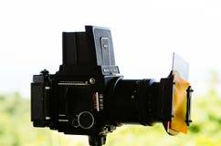 Film camera. My medium format Mamiya RB67 camera Stock Photography