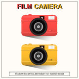Film Camera. A camera is an optical instrument that records images Royalty Free Stock Photo