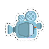 Film camera projector reel cut line. Illustration eps 10 Royalty Free Stock Photos