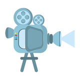 Film camera projector reel. Illustration eps 10 Stock Photography