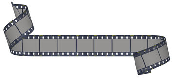 Film and camera strip. On white background Royalty Free Stock Photos