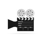 Film camera tape black vector Stock Photography