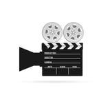 Film camera tape black vector. Film camera tape black art vector Stock Photography