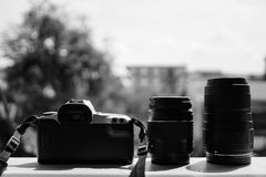 Film Camera with Two Lens Royalty Free Stock Photo