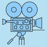 Film camera vector icon. Film camera vector icon for website Royalty Free Stock Photography