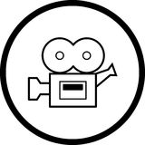 Film camera vector symbol royalty free stock image
