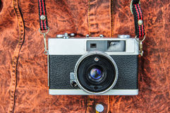 Film cameras that had been popular in the past Stock Image