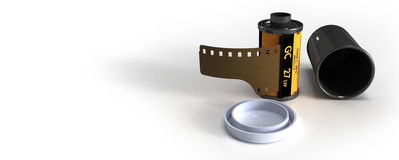 Film canister  Stock Photo