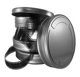 Film canisters stock images
